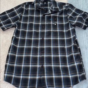 DC boys size medium plaid button down shirt